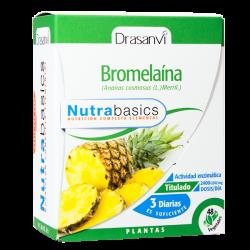 Bromelaína - 48 cápsulas vegetales [drasanvi]