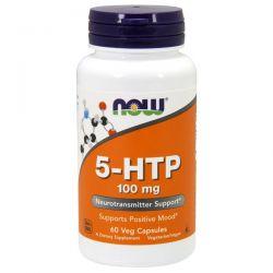 5-HTP 100mg - 60 Cápsulas Vegetales [Now Foods]