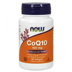Coq10 100mg - 50 softgels [now foods]