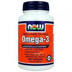 NOW Omega-3 1000 mg - 200 tabletes