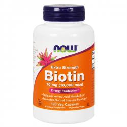 Biotina 10mg - 120 cápsulas vegetales [now foods]