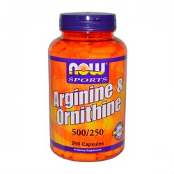 Arginina y Ornitina 500/250mg - 250 Caps