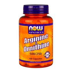 NOW Arginina / Ornitina - 100 cápsulas