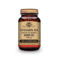 Vitamina D3 4000 IU (100 mg) (Colecalciferol) - 120 Cápsulas [Solgar]