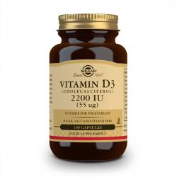 Vitamina D3 2200IU - 100 cápsulas vegetales