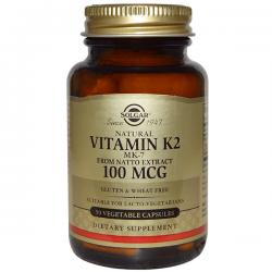 Vitamina K2 100mcg - 50 cápsulas vegetales [Solgar]