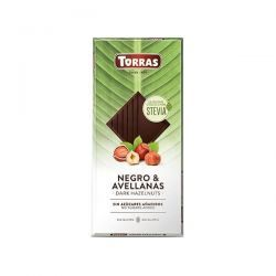 Chocolate Negro con Avellana con Stevia - 125g