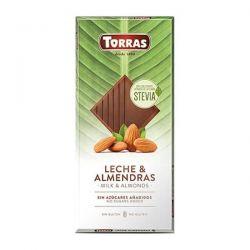 Tableta de Chocolate Stevia Leche y Almendras - 125g