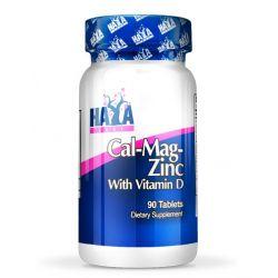 Calcio Magnesio y Zinc con Vitamina D - 90 tabletas [Haya Labs]